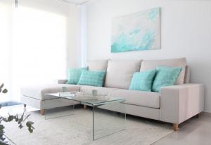 salón turquesa colores claros